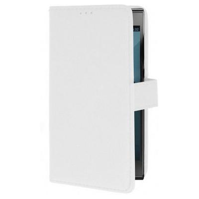 Microsonic Cüzdanlı Deri Turkcell T50 Kılıf Beyaz Cep Telefonu Kılıfı