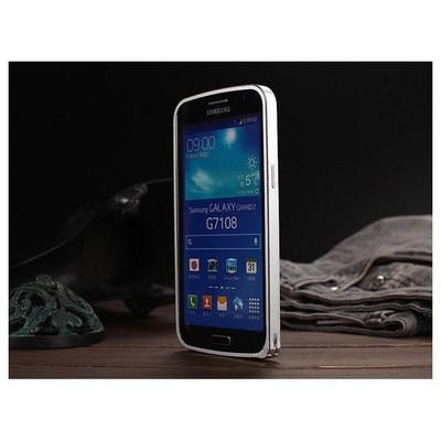 Microsonic Samsung Galaxy Grand 2 Thin Metal Bumper Kılıf Gümüş Cep Telefonu Kılıfı