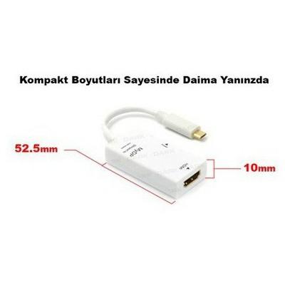 Dark Dk-hd-aslxhdmı Lg G2 Nexus 4/5/7 Uyumlu Hdmı Bağlantı Adaptörü HDMI Kablolar