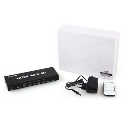 Dark Dk-hd-sw4x2 4 Giriş 2 Çıkışlı Uzaktan Kumandalı Full Hd Hdmı Switch HDMI Kablolar