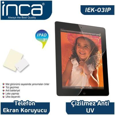 """Inca Iek-03ıp 9,7"""" Ipad/2/3 Uyumlu Şeffaf Ekran Koruyucu Ekran Koruyucu Film"""