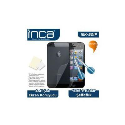 Inca Iek-50ıp Iphone 5 Uyumlu Çizilmez Anti-şok Şeffaf Ekran Koruyucu Ekran Koruyucu Film