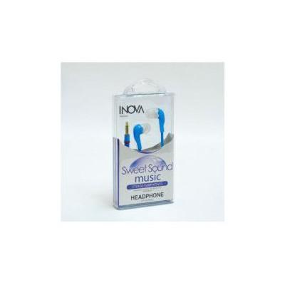 Inova Invss03 Telefon/tablet/mp3 Uyumlu 3,5 Inc Kulakıcı Kulaklık Mavi Beyaz Renk Kulak İçi Kulaklık