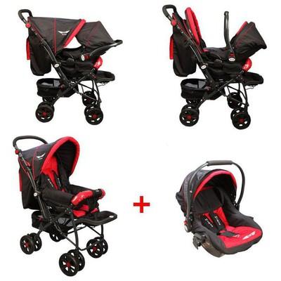 Mcrae Mc 750t Comfort Travel Sistem Çift Yönlü Lux Bebek Arabası - Kırmızı Travel Sistem Bebek Arabası