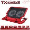 """TX Acnbergduord 11""""/17"""" Uyumlu 14cm Çift Fan 2xusb 5 Kademeli Yükseklik Laptop Soğutucu Notebook Soğutucu"""
