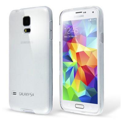 Microsonic Transparent Soft Samsung Galaxy S5 Mini Kılıf Beyaz Cep Telefonu Kılıfı