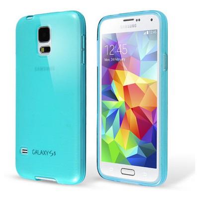 Microsonic Transparent Soft Samsung Galaxy S5 Mini Kılıf Mavi Cep Telefonu Kılıfı