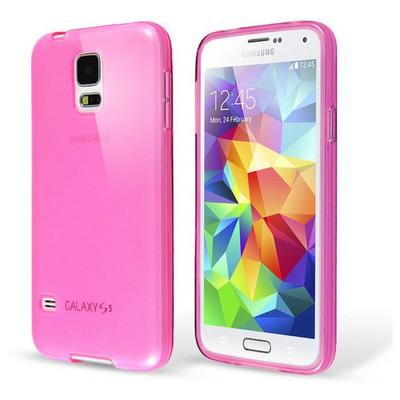Microsonic Transparent Soft Samsung Galaxy S5 Mini Kılıf Pembe Cep Telefonu Kılıfı