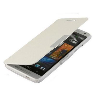 Microsonic Mıknatıslı Ultra Thin Kapaklı Htc One Mini M4 Kılıf Beyaz Cep Telefonu Kılıfı