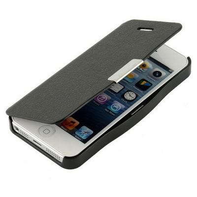 Microsonic Mıknatıslı Ultra Thin Kapaklı Iphone 5s Kılıf Siyah Cep Telefonu Kılıfı