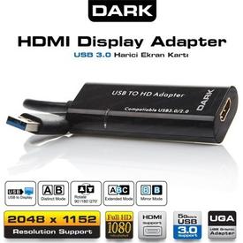 Dark Dk-ac-uga32 Hdmı Usb 3.0 / Usb 2.0 Harici Ekran Kartı