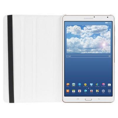 Microsonic 360 Rotating Stand Deri Samsung Galaxy Tab S 8.4 T700 Kılıf Beyaz Tablet Kılıfı
