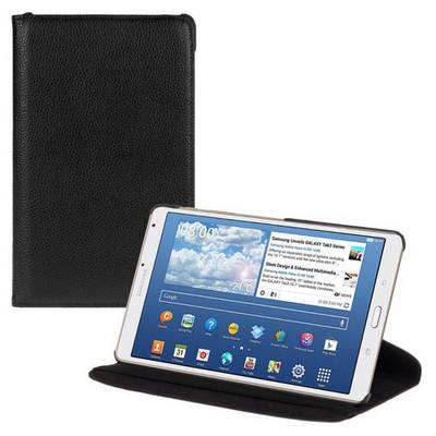 Microsonic 360 Rotating Stand Deri Samsung Galaxy Tab S 8.4 T700 Kılıf Siyah Tablet Kılıfı