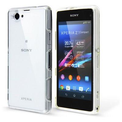 Microsonic Sony Xperia Z1 Compact Clear Soft Şeffaf Kılıf Cep Telefonu Kılıfı