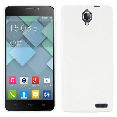 Microsonic Glossy Soft Alcatel One Touch Idol X Kılıf Beyaz Cep Telefonu Kılıfı