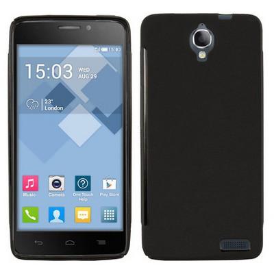 Microsonic Glossy Soft Alcatel One Touch Idol X Kılıf Siyah Cep Telefonu Kılıfı