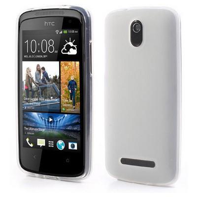 Microsonic parlak Soft Htc Desire 500 Kılıf Beyaz Cep Telefonu Kılıfı