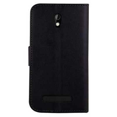 Microsonic Cüzdanlı Deri Htc Desire 500 Kılıf Siyah Cep Telefonu Kılıfı