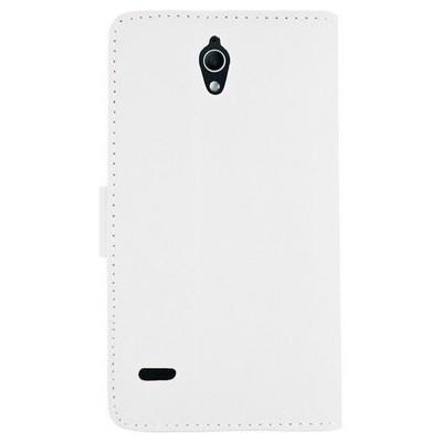 Microsonic Cüzdanlı Deri Huawei G700 Kılıf Beyaz Cep Telefonu Kılıfı