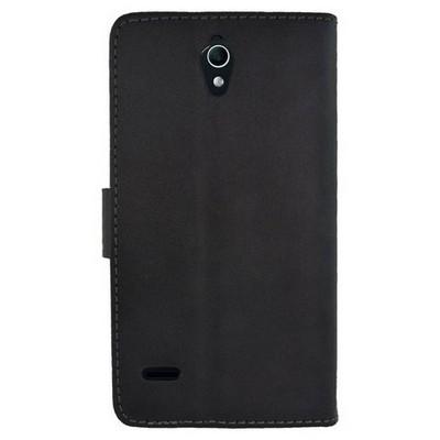 Microsonic Cüzdanlı Deri Huawei G700 Kılıf Siyah Cep Telefonu Kılıfı