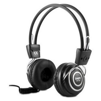 Snopy SN-822 Deri Profesyonel İp Kablolu Mikrofonlu Kulaklık Kafa Bantlı Kulaklık