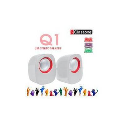 Classone K25-wr 1+1 Usb 2.0 Kablolu  Beyaz/kırmızı Renk Hoparlör