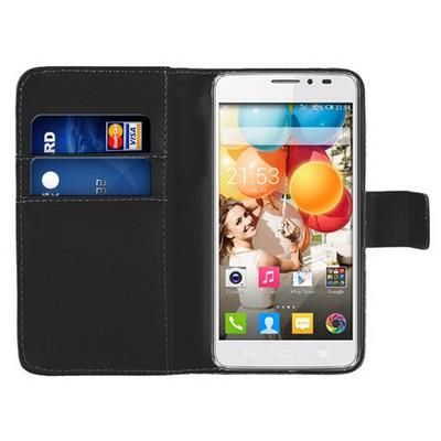 Microsonic Cüzdanlı Deri General Mobile Discovery 2 Kılıf Siyah Cep Telefonu Kılıfı