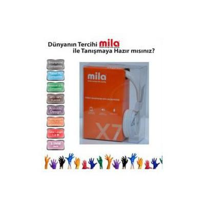 Mila Ml-x7-whıte X7 Serisi Universal Telefon Uyumlu Ve Kulaklık Mikrofonlu Beyaz Renk Kafa Bantlı Kulaklık