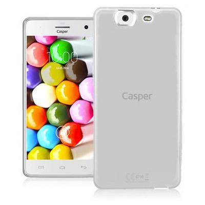 Microsonic parlak Soft Casper Via V8 Kılıf Beyaz Cep Telefonu Kılıfı