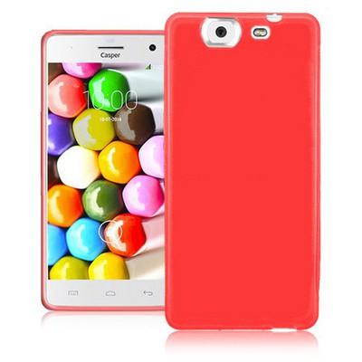 Microsonic Glossy Soft Casper Via V8 Kılıf Kırmızı Cep Telefonu Kılıfı