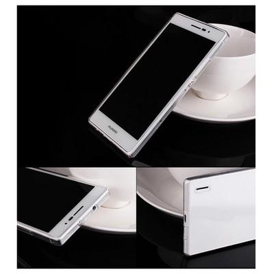 Microsonic Transparent Soft Huawei Ascend P7 Kılıf Beyaz Cep Telefonu Kılıfı