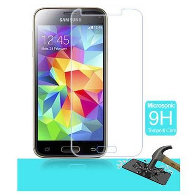 Microsonic Temperli Cam Ekran Koruyucu Samsung Galaxy S5 Mini Film Ekran Koruyucu Film