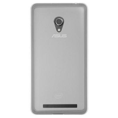 Microsonic Glossy Soft Asus Zenfone 5 Kılıf Beyaz Cep Telefonu Kılıfı