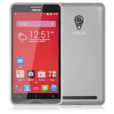 Microsonic Glossy Soft Asus Zenfone 6 Kılıf Beyaz Cep Telefonu Kılıfı