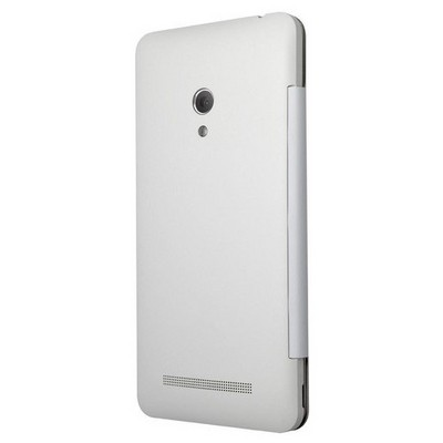 Microsonic View Cover Delux Kapaklı Asus Zenfone 5 Kılıf Akıllı Modlu Beyaz Cep Telefonu Kılıfı