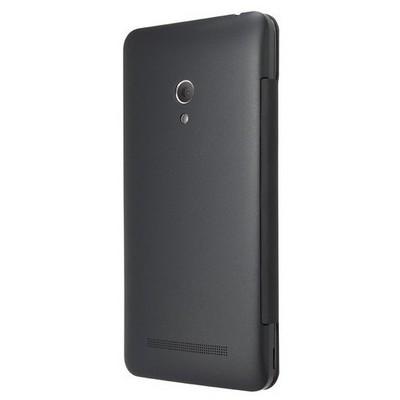 Microsonic View Cover Delux Kapaklı Asus Zenfone 5 Kılıf Akıllı Modlu Siyah Cep Telefonu Kılıfı