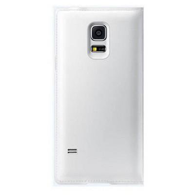 Microsonic View Cover Delux Kapaklı Samsung Galaxy S5 Mini Kılıf Akıllı Modlu Beyaz Cep Telefonu Kılıfı