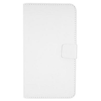Microsonic Cüzdanlı Deri Asus Zenfone 5 Kılıf Beyaz Cep Telefonu Kılıfı