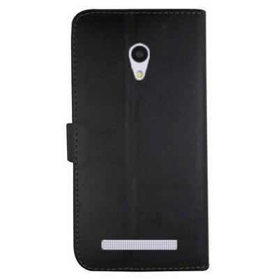 Microsonic Cüzdanlı Deri Asus Zenfone 6 Kılıf Siyah Cep Telefonu Kılıfı