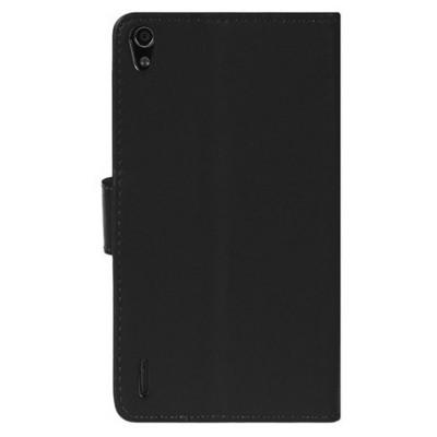 Microsonic Cüzdanlı Deri Huawei P7 Kılıf Siyah Cep Telefonu Kılıfı