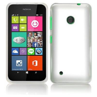 Microsonic Transparent Soft Nokia Lumia 530 Kılıf Beyaz Cep Telefonu Kılıfı