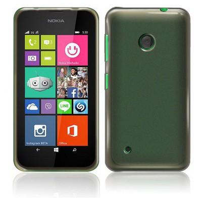 Microsonic Transparent Soft Nokia Lumia 530 Kılıf Siyah Cep Telefonu Kılıfı