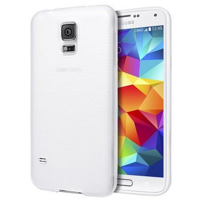 Microsonic Dot Style Silikon Samsung Galaxy S5 Kılıf Beyaz Cep Telefonu Kılıfı