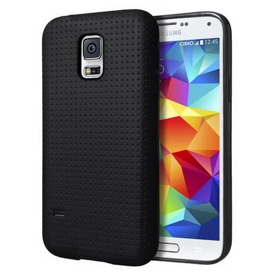 Microsonic Dot Style Silikon Samsung Galaxy S5 Kılıf Siyah Cep Telefonu Kılıfı