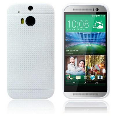 Microsonic Dot Style Silikon Htc One M8 Kılıf Beyaz Cep Telefonu Kılıfı