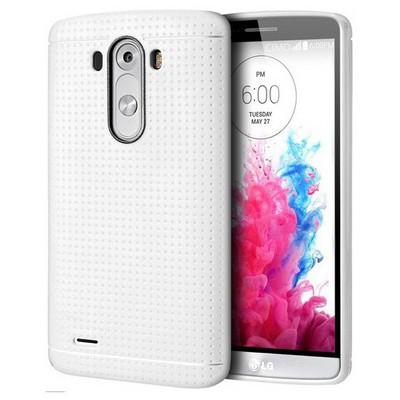 Microsonic Dot Style Silikon Lg G3 Kılıf Beyaz Cep Telefonu Kılıfı