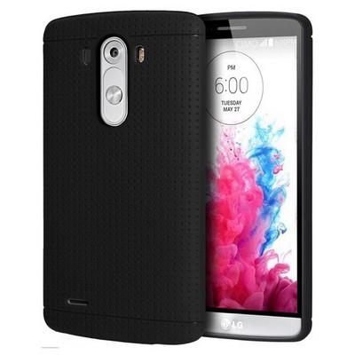 Microsonic Dot Style Silikon Lg G3 Kılıf Siyah Cep Telefonu Kılıfı