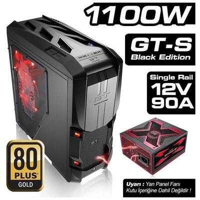 Aerocool GT-S Black 1100w Gaming Kasa (AE-GTS-1100)
