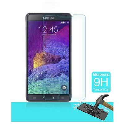 Microsonic Temperli Cam Ekran Koruyucu Samsung Galaxy Note 4 Film Ekran Koruyucu Film