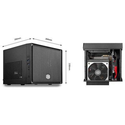 Cooler Master Elite 110 Mini ITX Kasa (RC-110-KKN2)